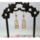 Golden Gradient Glass Filigree Dangle Earrings