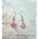 Pink Carved Shell Chinese Gourd Earrings