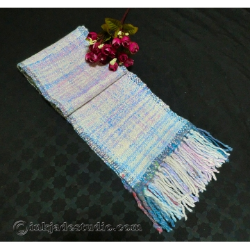 Unicorn Magic Scarf with Handspun Yarn