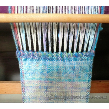 Weaving Unicorn Magic Scarf with Handspun Yarn